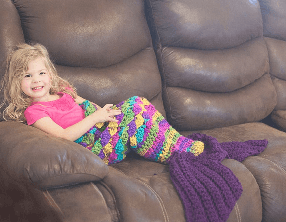 Mermaid Blanket Crochet Pattern by Crochet My Love