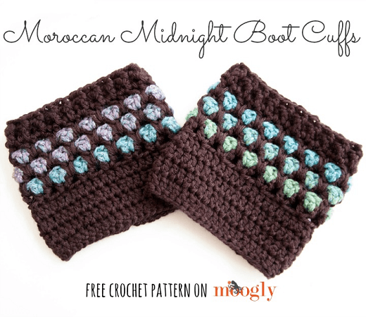 Moroccan Midnight Boot Cuffs Crochet Pattern by Moogly