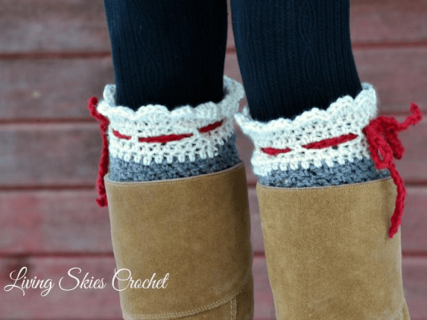 Nettie Boot Cuff Crochet Pattern by Living Skies Fibre
