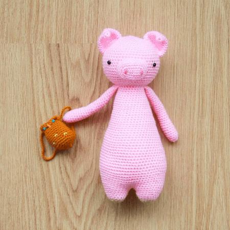 Pig Crochet Amigurumi Pattern by Little Bear Crochets