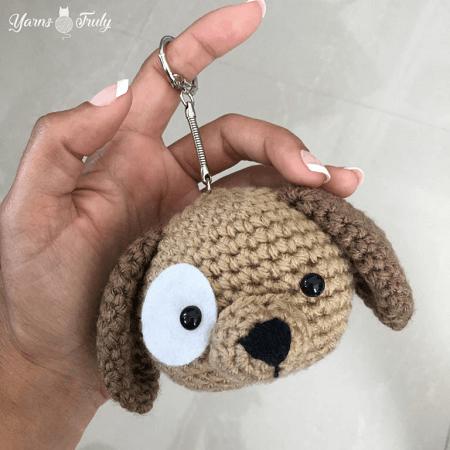 Puppy Keychain Amigurumi Pattern by Yarns Truly