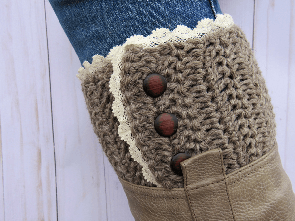 Rustic Boot Cuff Crochet Pattern by Highland Hickory Designs
