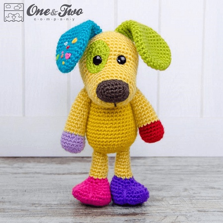 Scrappy, The Happy Puppy Amigurumi Pattern by One And Two Company