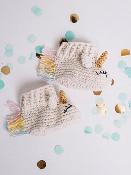 Sleepy Unicorn Baby Booties Crochet Pattern by I Like Crochet