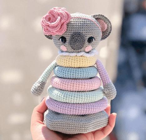 Stacked Toy Koala Crochet Pattern by By Knit Toys