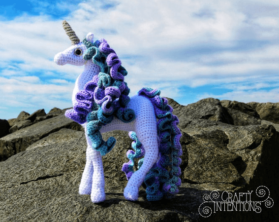 Standing Unicorn Amigurumi Pattern by Crafty Intentions