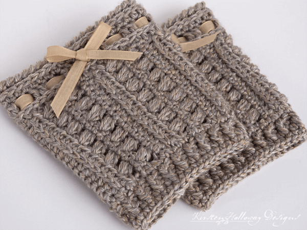 Sugar Maple Boot Cuffs Crochet Pattern by Kirsten Holloway Designs
