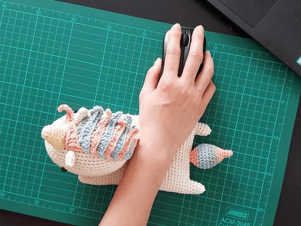 Unicorn Crochet Wrist Rest Pattern by One Zero Crochet