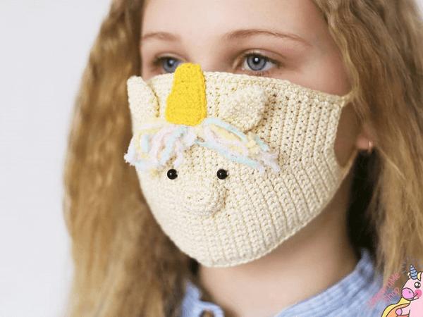 Unicorn Face Mask Crochet Pattern by Unicorn Me Shop