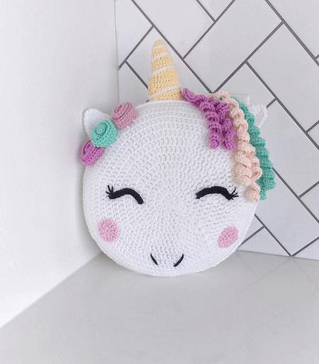 Unicorn Pillow Crochet Pattern by Yalis And Yabos Crochet