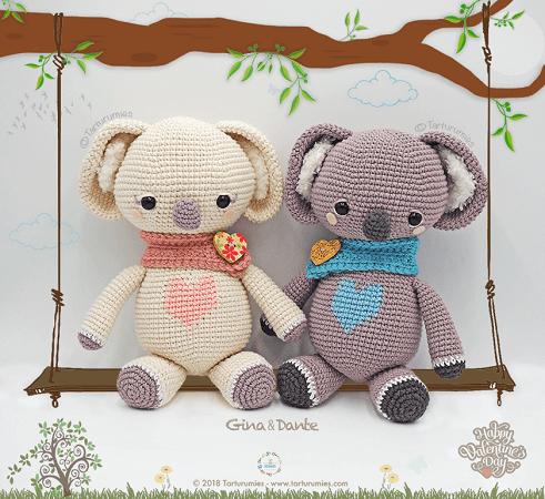 Valentine's Koalas Amigurumi Pattern by Tarturumies
