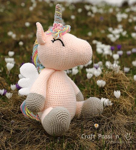 Winged Unicorn Amigurumi Pattern by Craft Passion