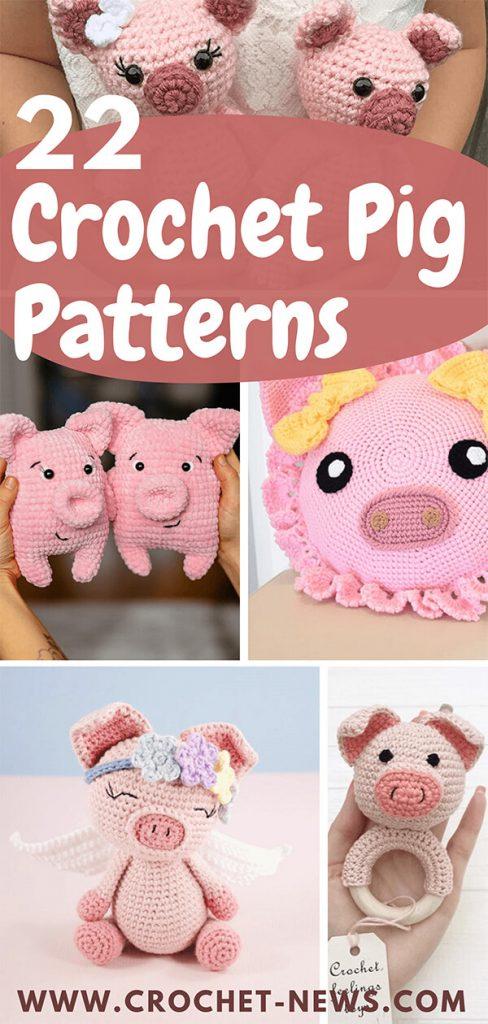 22 Crochet Pig Patterns