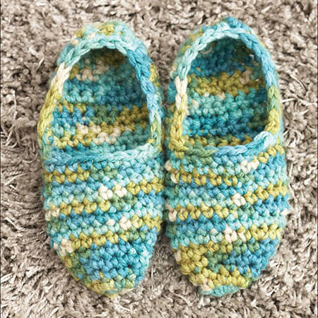 Bed Slippers From Yarnspirations