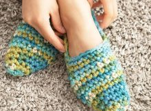 Bernat Crochet Bed Socks Free Pattern By Yarnspirations