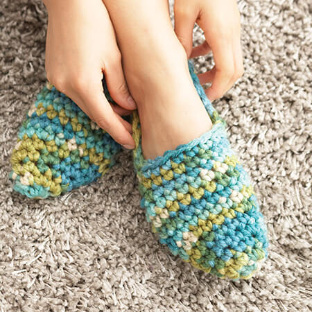 Bernat Crochet Bed Socks Free Pattern By Yarnspirations
