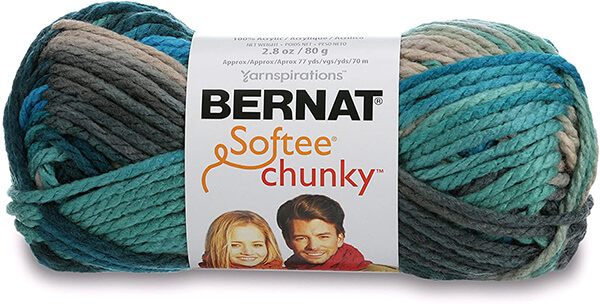 Bernat Softee Chunky Ombre Yarn Deep Waters From Amazon
