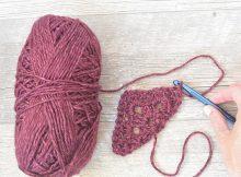 Crochet Granny Triangle Scarf By Mama in a Stitch