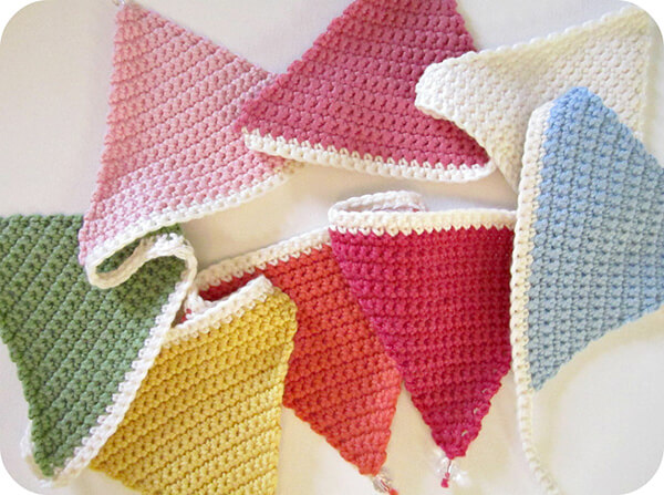 Crochet Triangle Bunting By Pink Milk