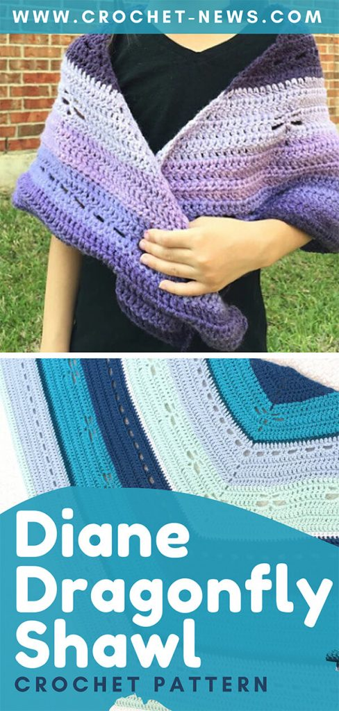 Diane Dragonfly Shawl Crochet Pattern