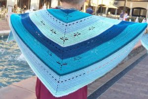 Diane Dragonfly Shawl Crochet Pattern Adult Size By Little Panda Mommy