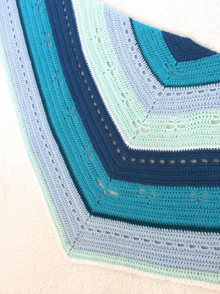 Diane Dragonfly Shawl Details By Little Panda Mommy