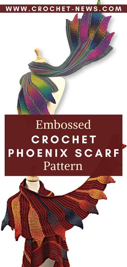 Embossed Crochet Phoenix Scarf Pattern