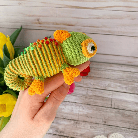 Amigurumi Chameleon Free Crochet Pattern | 450x450