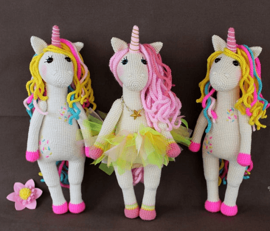 Amigurumi Unicorn Crochet Pattern by My Cro Wonders