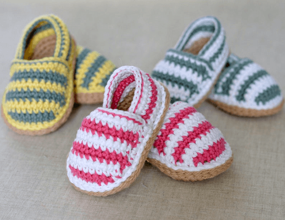 Baby Espadrille Shoes Crochet Pattern by Matilda's Meadow