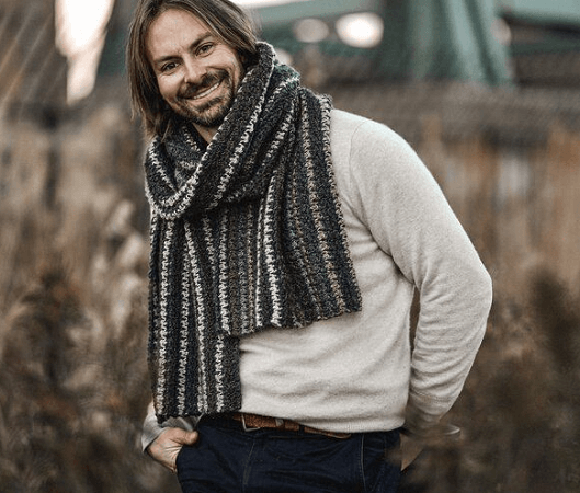 Bernard Houndstooth Scarf Crochet Pattern by Two Of Wands