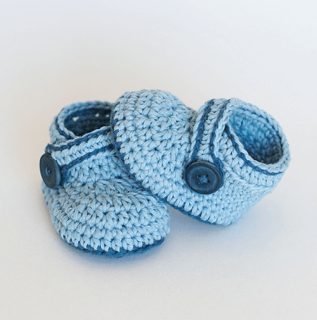 Blue Whale Crochet Baby Booties Pattern by Croby Patterns