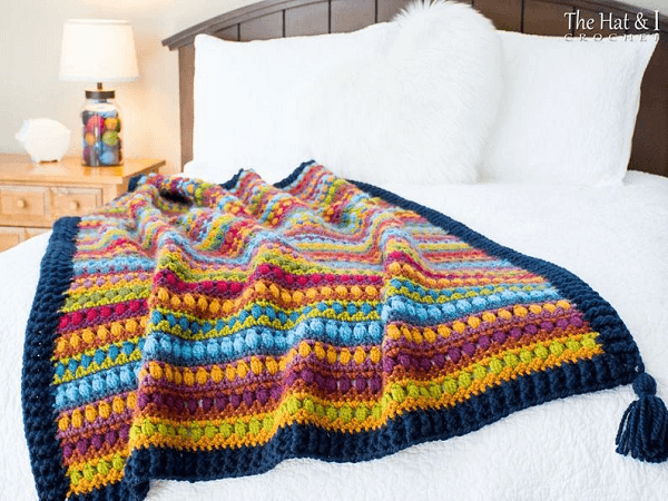 Bohemian Nights Blanket Crochet Pattern by The Hat And I