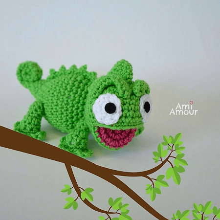 15 Super Cute Crochet Chameleon Amigurumi Patterns - Crochet News | 450x450