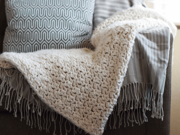 Chunky Icelandic Crochet Blanket Pattern by Mama In A Stitch