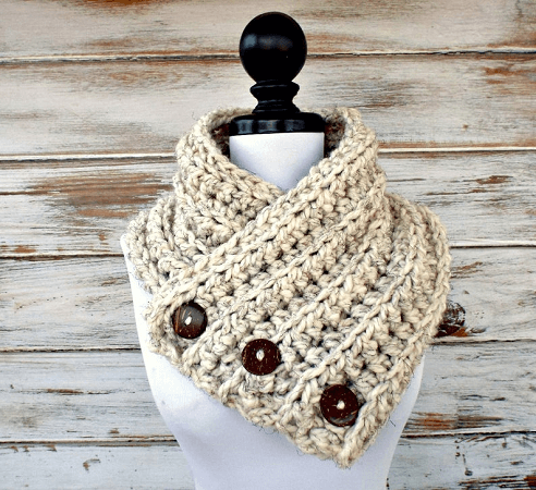 Chunky Scarf Crochet Pattern by Pixie Bell