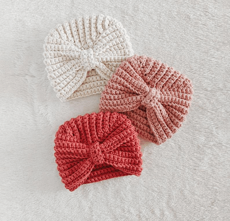 Crochet Baby Turban by Croby Patterns