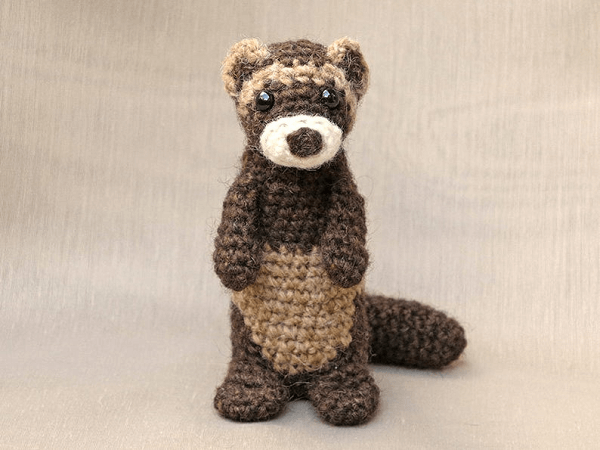Crochet Ferret Polecat Pattern by Sons Popkes