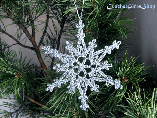 Crochet Hanging Snowflake Pattern by Crochet Gifts Shop