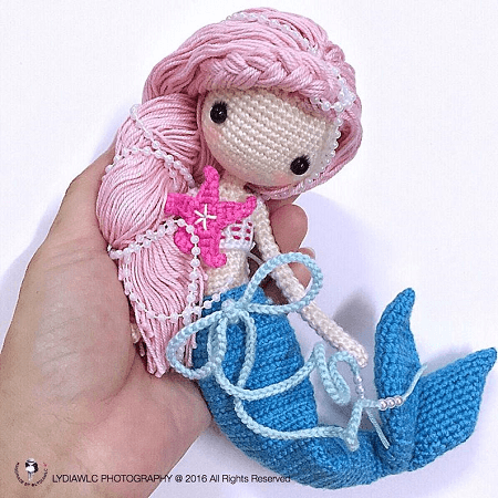 Crochet Mermaid Doll Pattern by Lydiawlc  MW