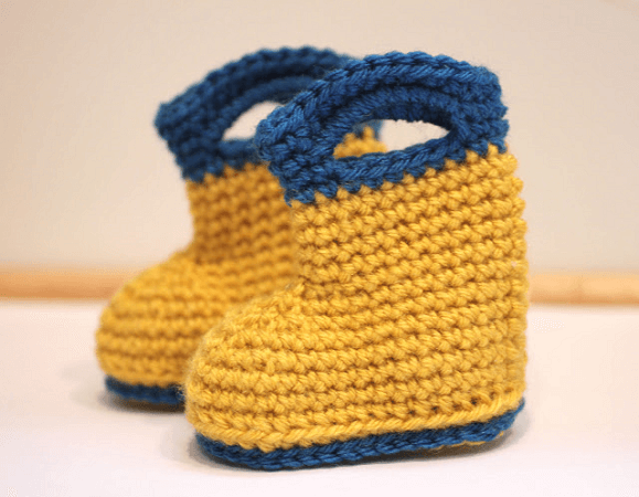Crochet Rain Boots Pattern by Repeat Crafter Me