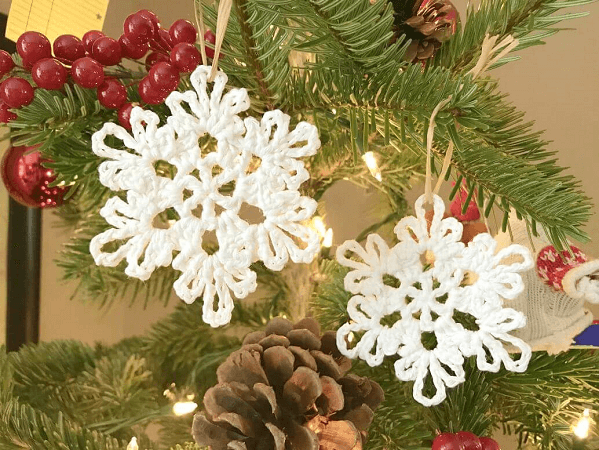 Crocheted Snowflake Pattern by Crochet To Play