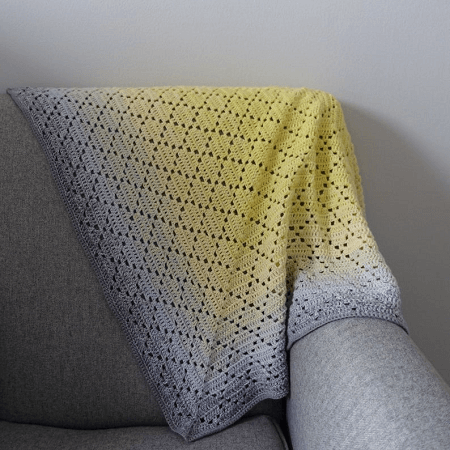 Dainty Diamonds Crochet Blanket Pattern by Ivy And Mabel