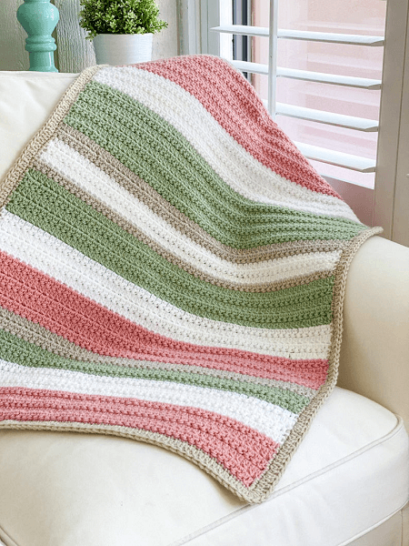 Easy Crochet Blanket Pattern by Daisy Cottage Designs