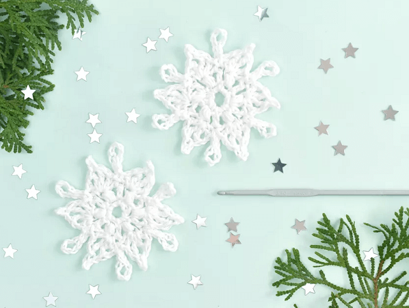 Easy Crochet Snowflake Pattern by The Spruce Crafts