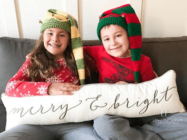 Elf Hat Crochet Pattern by Lovable Loops