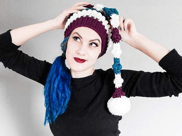 Elf Stocking Cap Crochet Pattern by By Frenchie
