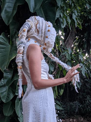Fae Elf Hood Crochet Pattern by Earth Tricks