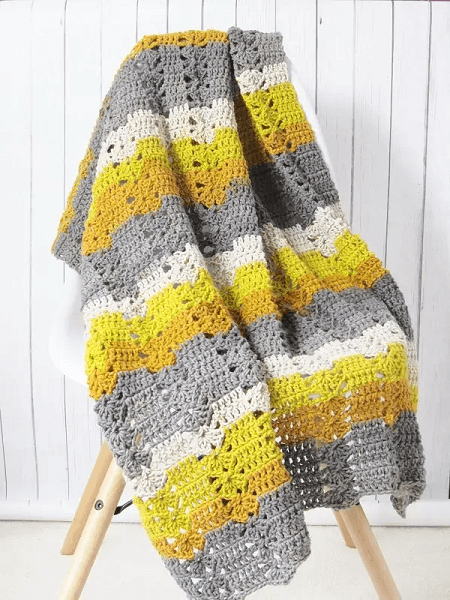 Fireplace Afghan Crochet Pattern by Crochet Dreamz