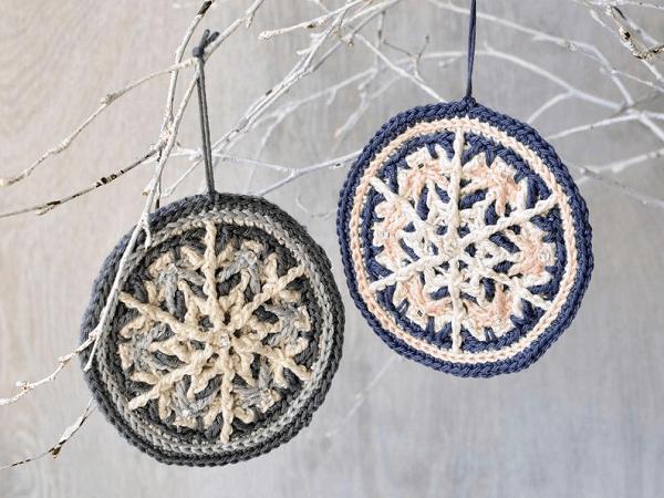 Frozen Snowflakes Crochet Pattern by Lilla Bjorn Crochet